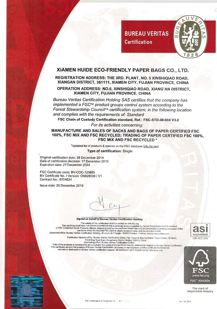 Fábrica certificada FSC