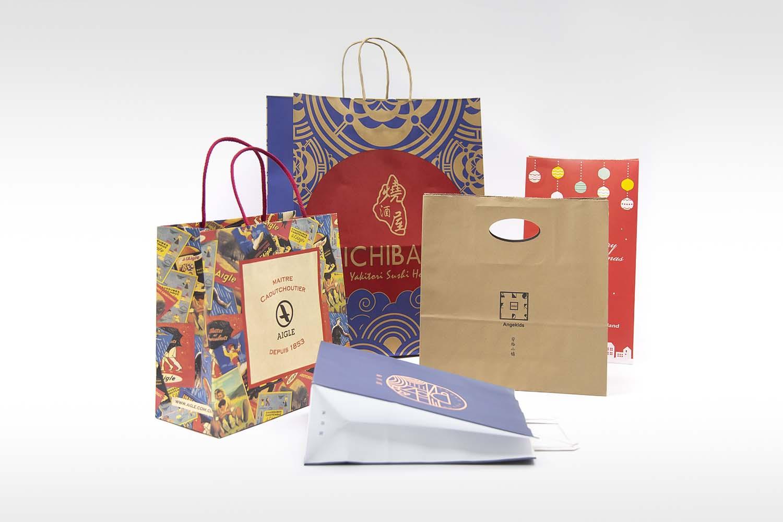 sacs en papier personnalisés - emballage huide